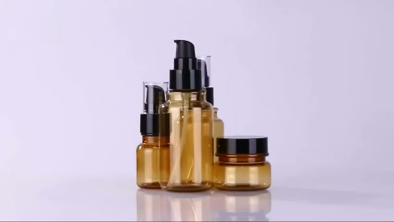 Luxury set empty cosmetic sets bottle and jar packaging