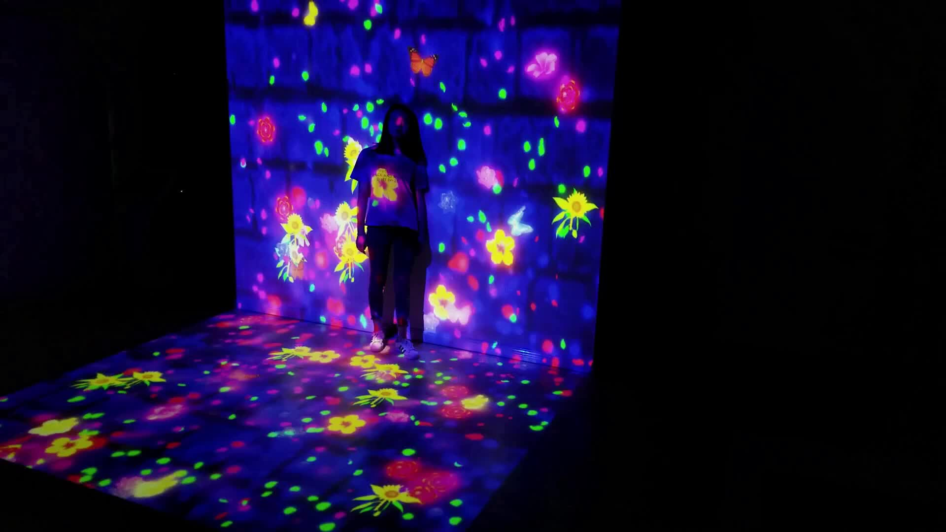 Waterfall And Flower Immersive Projection Universe Of