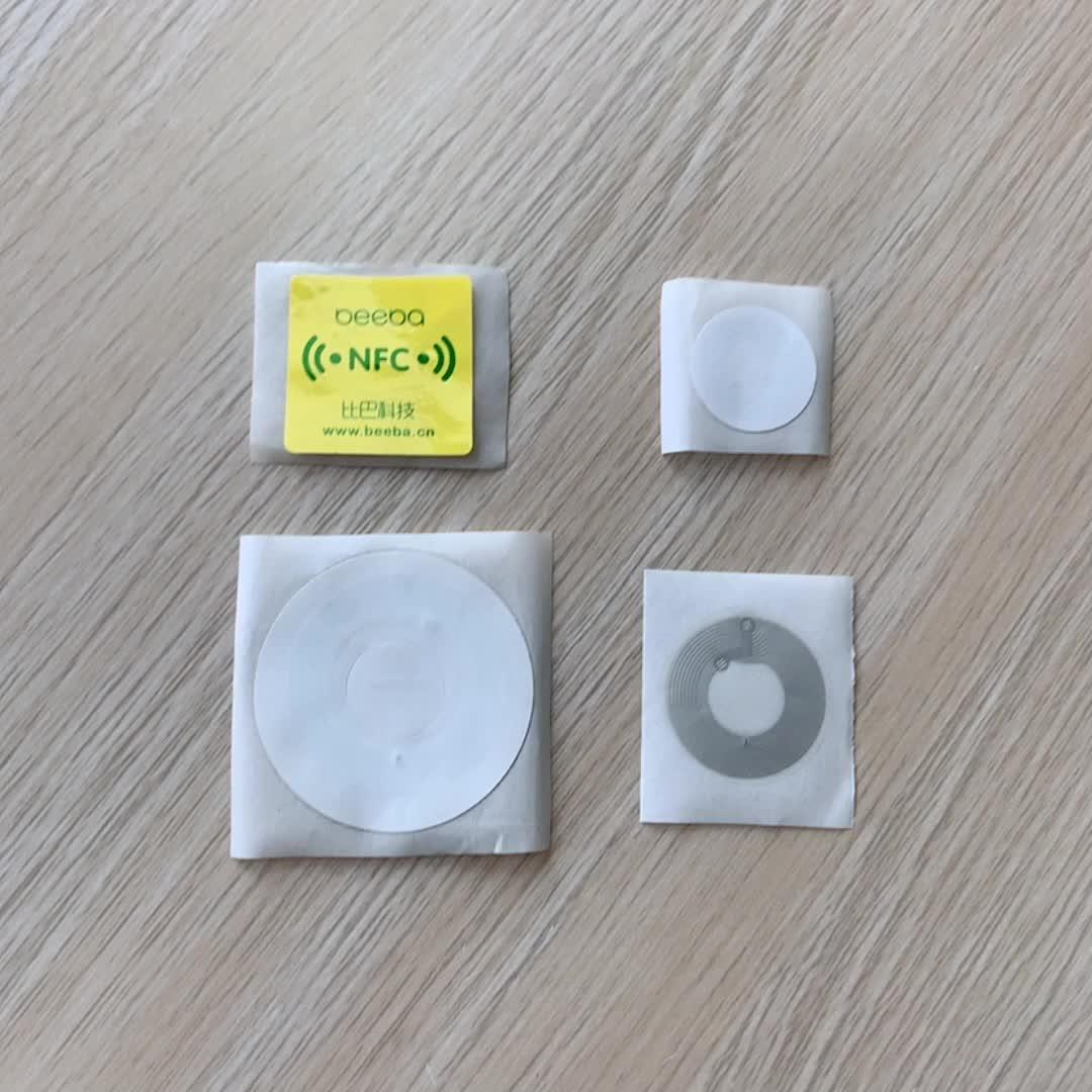 SLI Chip boleto biblioteca etiqueta RFID Etiqueta de código de barras de impresora de impresión de flores