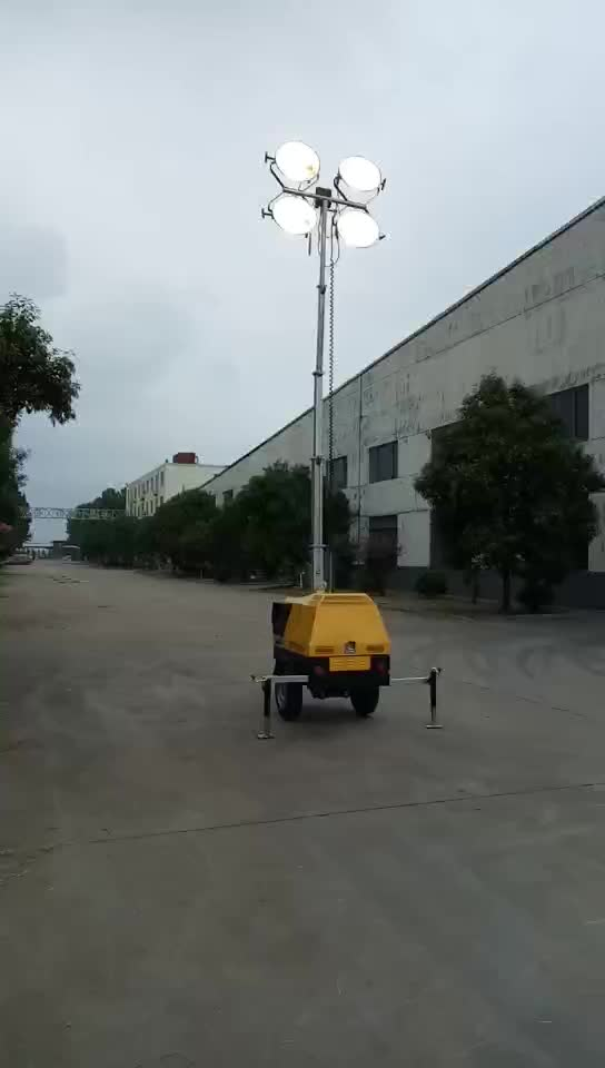 Sample Diesel And Gasoline Portable Generator Mobile Mast Light Tower ,LED Tower Light ,Metal Halide Lamp 1000W*4