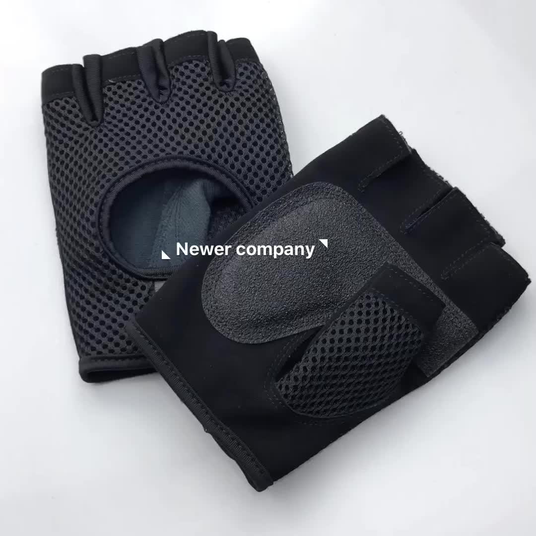 Hersteller fingerlose leichte leder benutzerdefinierte sport motorrad racing biker hand handschuhe