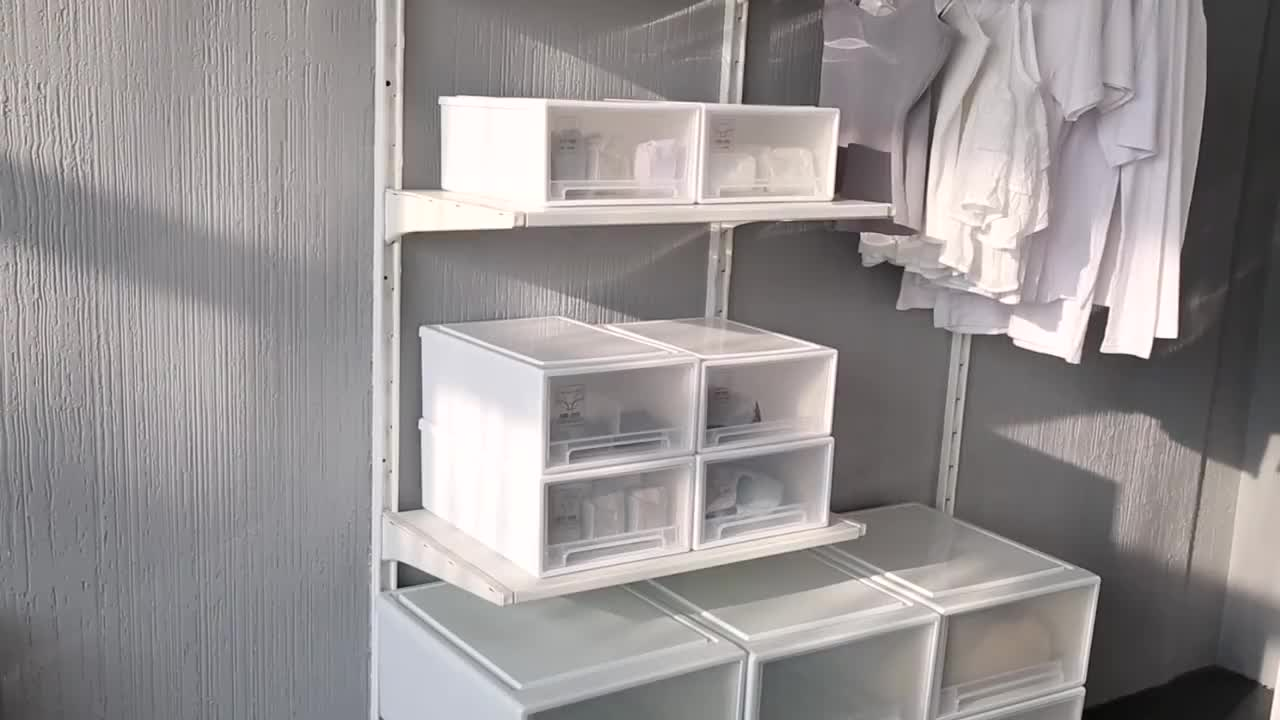 Wholesale hot sell stackable plastic storage drawers wheels cabinet