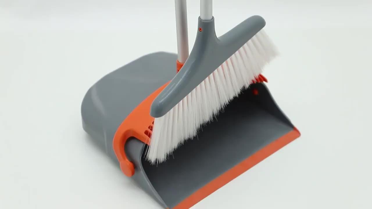 LESTE interior/ao ar livre set vassoura, vassoura de limpeza de fibra de plástico macio, escova para vassoura