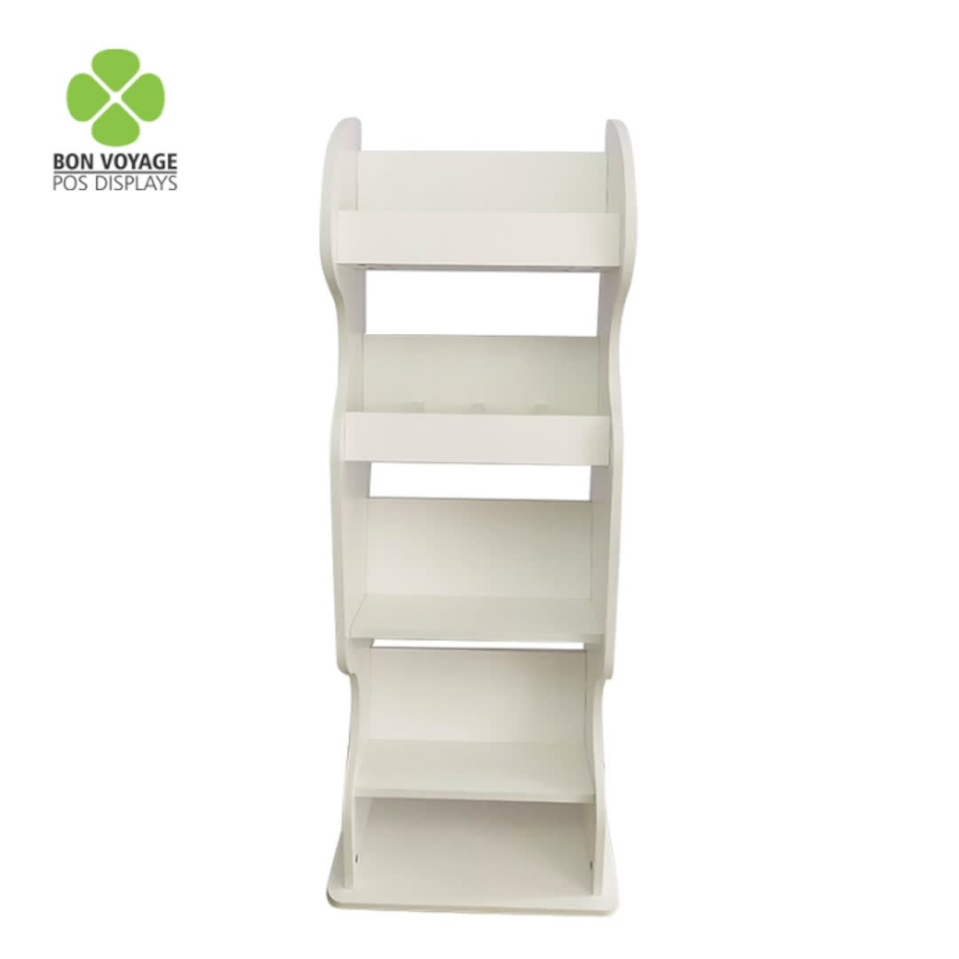 Customized size magazine display stand magazine counter top display unit journal display case