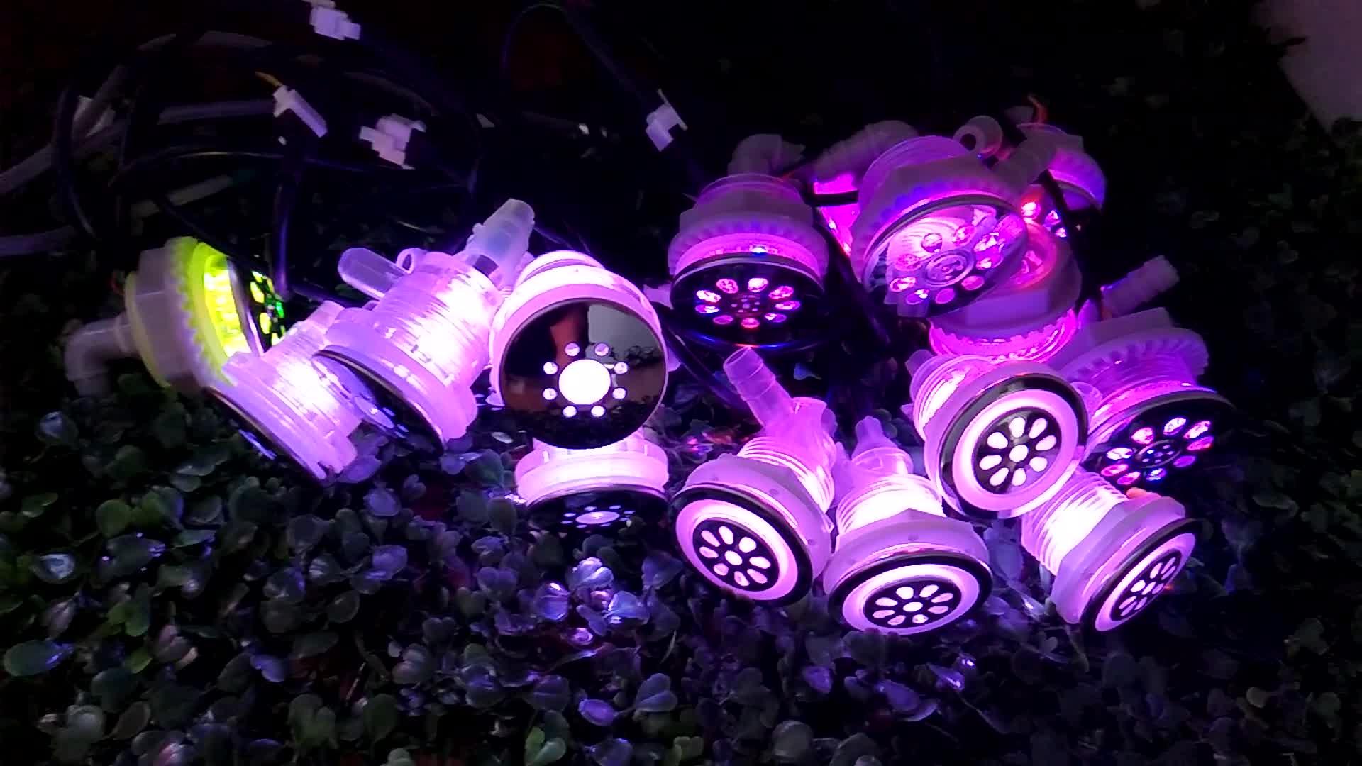 욕조 빛 2 인치 버블 노즐 rgb 수족관 월풀