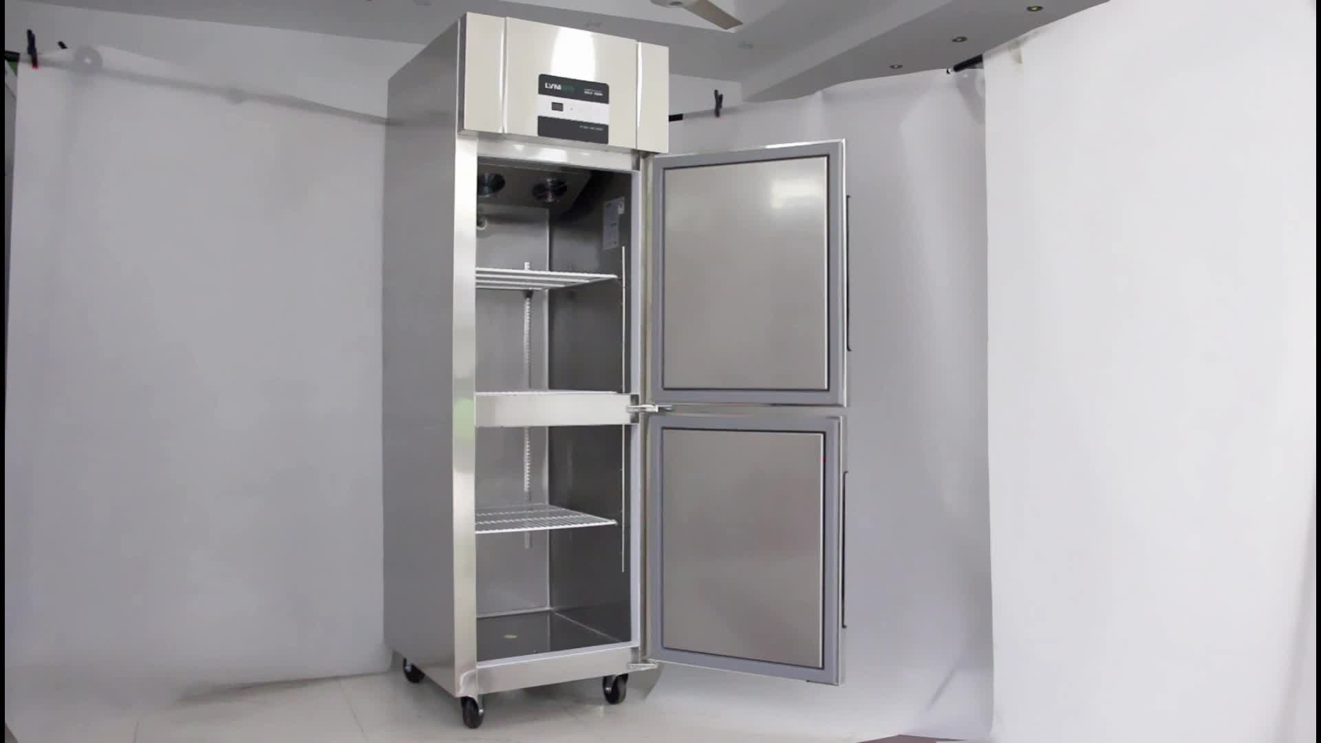 LVNI double door hotel restaurant kitchen upright industrial commercial freezer fridge refrigerator for sale