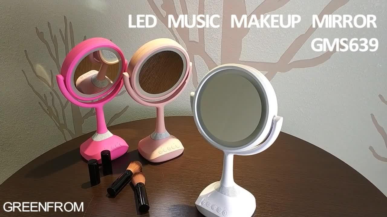 Multi-media Smart LED Illuminato Specchio Per Il Trucco con Altoparlante Bluetooth Musicale