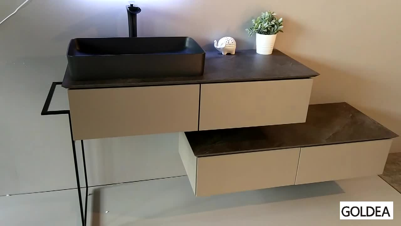 BSCI factory Quality bathroom furniture for hotel bathroom cabinet with FSC certification