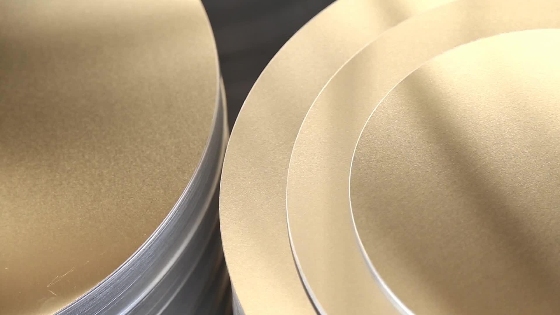 1050 3003 3004 5052 O H14 H32 Não-pau placa Círculo de Alumínio para fogão elétrico//vasos de pressão fogão