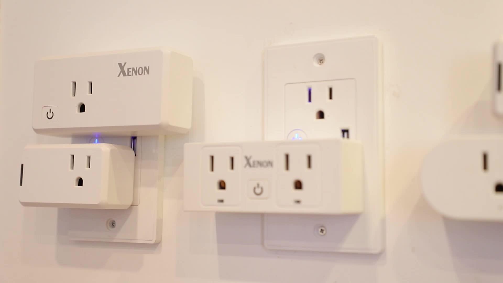 Xenon wifi smart stopcontact 2AC + 1USB ONS standaard werken met Alexa en google assistent afstandsbediening TUYA IFTTT