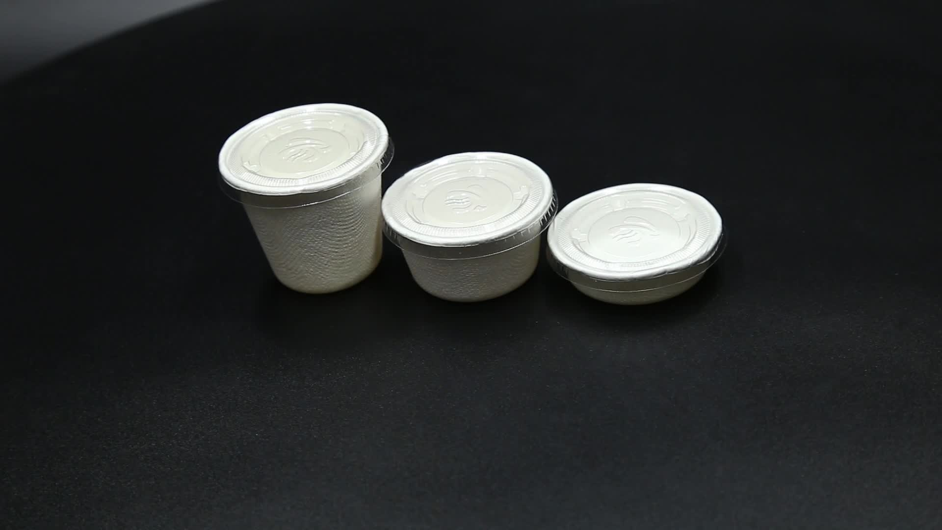 Compostable Disposable Sugarcane Bagasse Cups 1oz Without Lid
