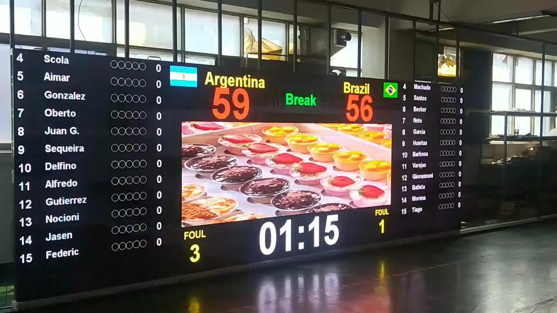 Large Stadium LED Display Screen Outdoor Indoor P3.91 P4 P5 P6 LED Scoreboard