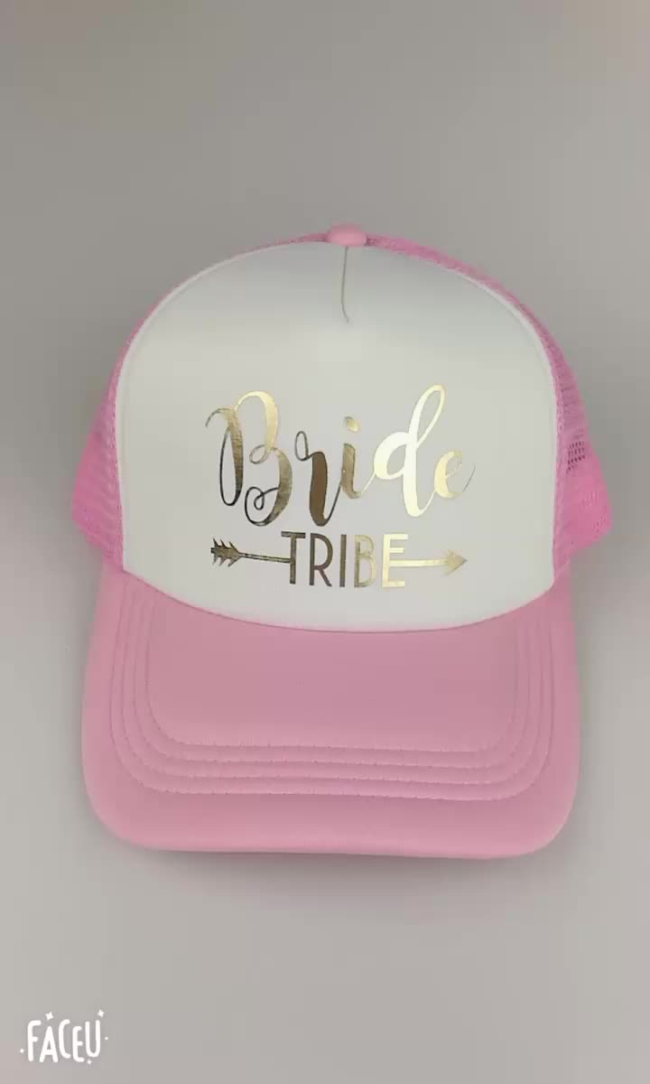 C Fung squad bride team bride trucker hats baseball Caps for wedding party  gold glitter pink mesh 4b50dae6f105