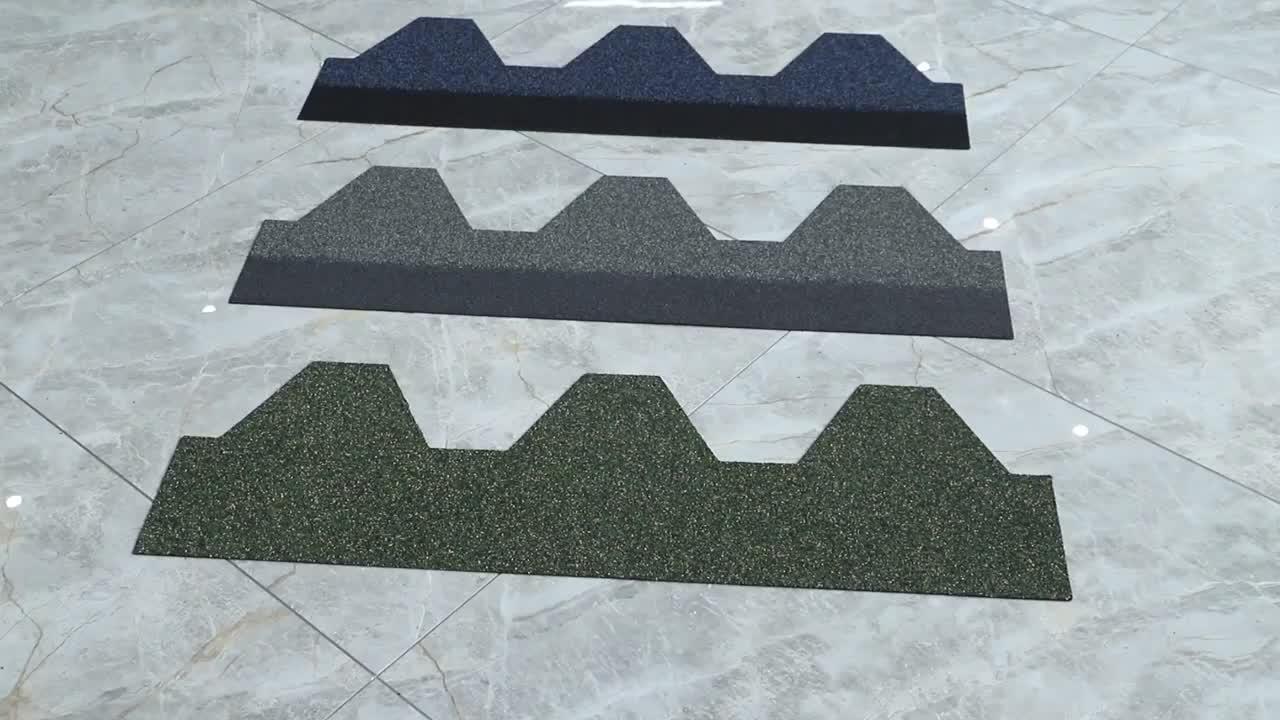 China Building Material Light Steel Colorful Faber Glass Asphalt Shingles Bitumen Roof Tiles
