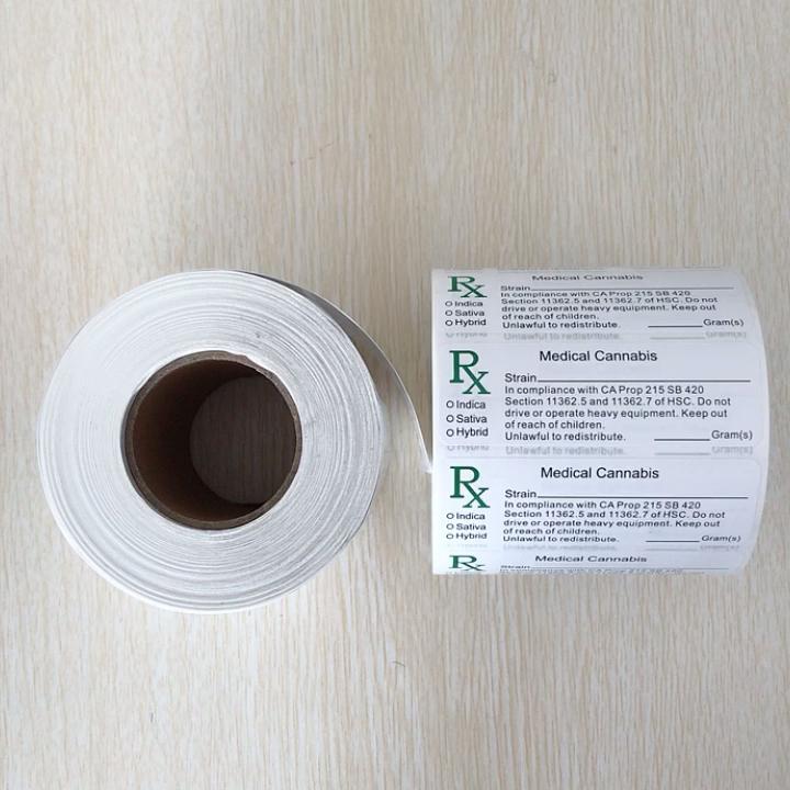 Usine prix personnalisé imprimé pharmaceutique prescription médicale facture bouteille autocollant rouleau d'étiquettes