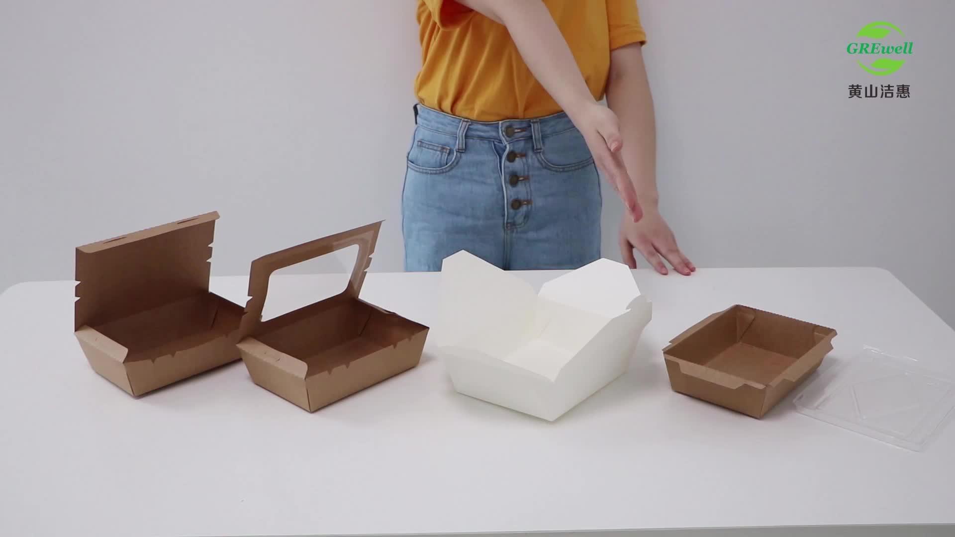 מזון מכולות חד פעמי מודפס מהיר מזון לקחת משם נייר סירת מזון מגשים