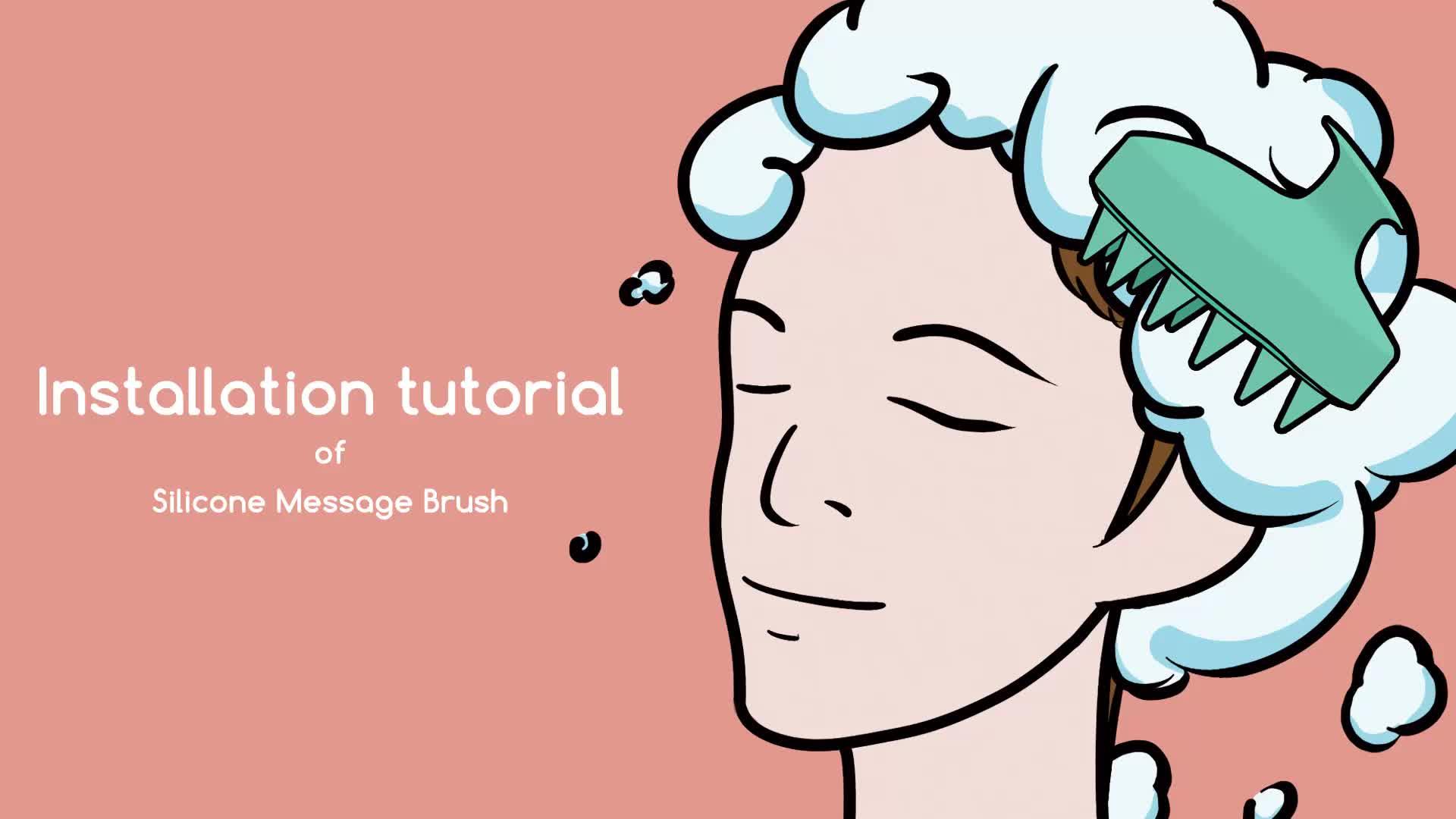 Amazon New Arrival Head Massage Brush Scalp Massage shampoo brush for shower danruff remove