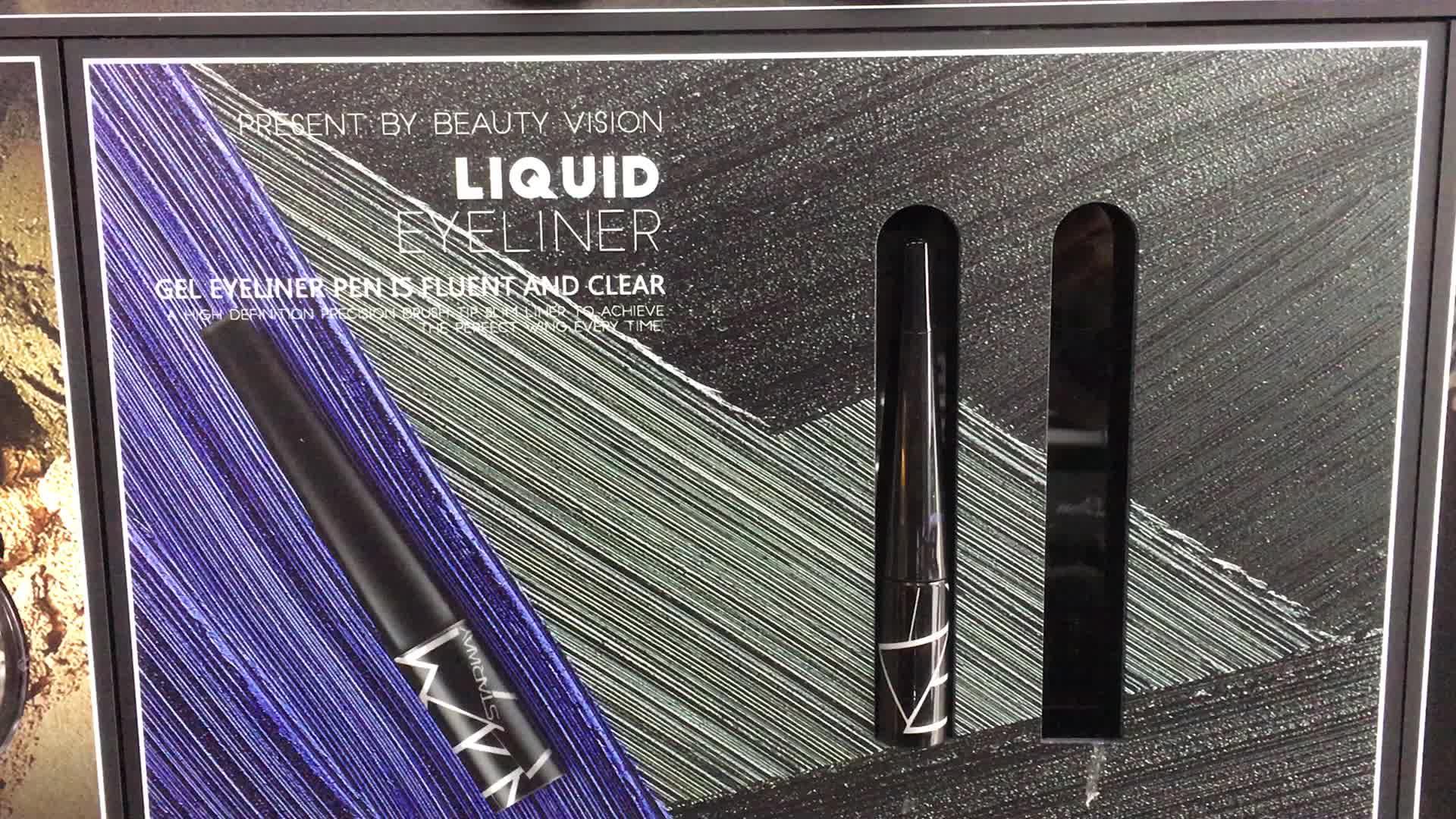 Göz Makyaj Yüksek Kalite Ile Kolayca Pigmentli Sıvı Eyeliner Ve alüminyum boru Sallanan Çelik Topu