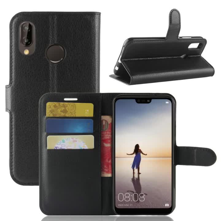 Flip Leather Wallet Smartphone Case For Xiaomi Redmi Note 6 with Card Slot