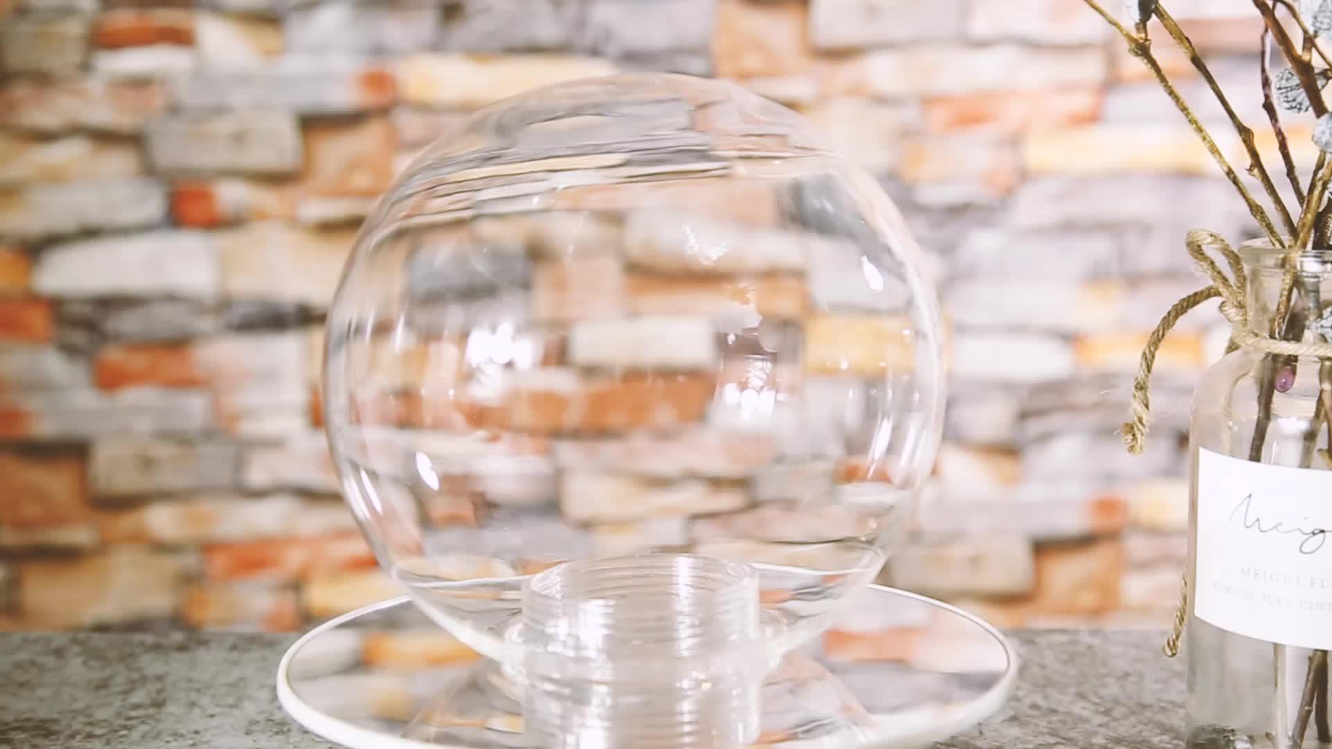 Diametro di 10 centimetri A Mano Colpo G9 Vite Bianco Latte Glassato di Vetro Appeso Lampada della Sfera di Illuminazione Ombra per Interni Luce Del Pendente