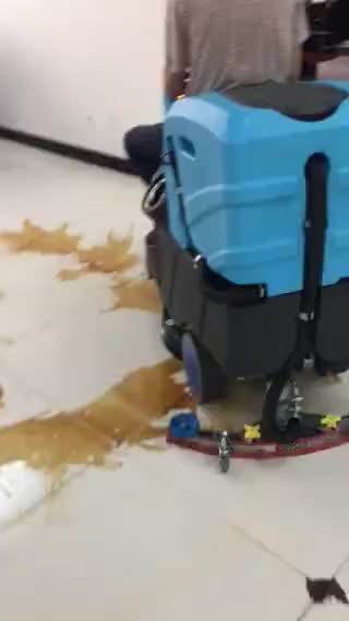 RD560 Elektrische Auto Rijden Op Vloer Scrubber Droger Machine
