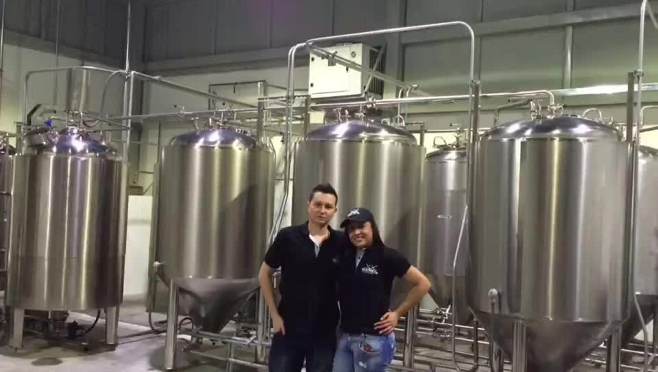 500l brewery equipment beer fermenting turnkey plant for bar / pubs / brew kettle system