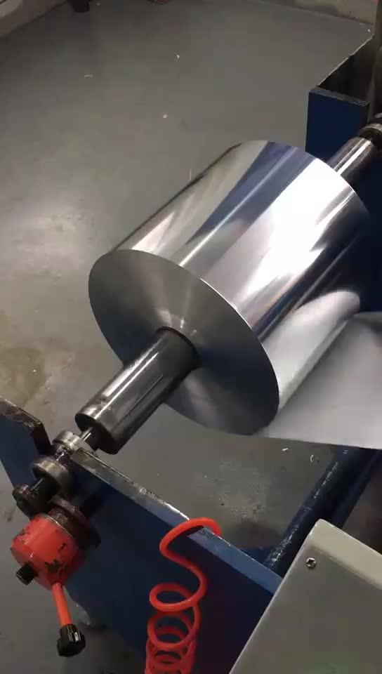 Полуавтоматическая высокоскоростная алюминиевая фольга перемотка и машина для резки