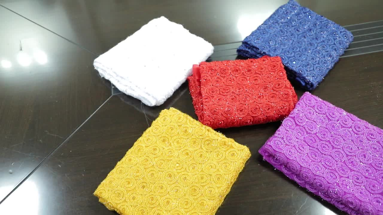high quality useful nylon sequin mesh indian dress bridal beaded fabric