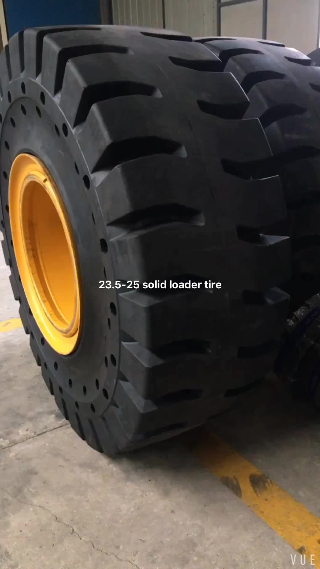 Chinese good quality solid tire 23.5-25 loader tire for sale