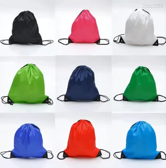 custom draw string bag wholesale polyester drawstring backpack with zipper