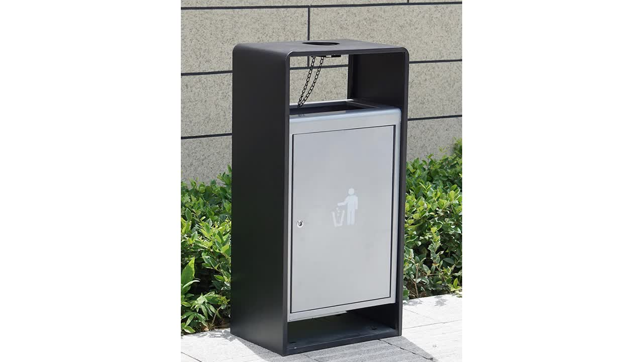 2019 new style Stand Large Outdoor Customized Stainless Steel Metal Ashtray  Garbage Bin