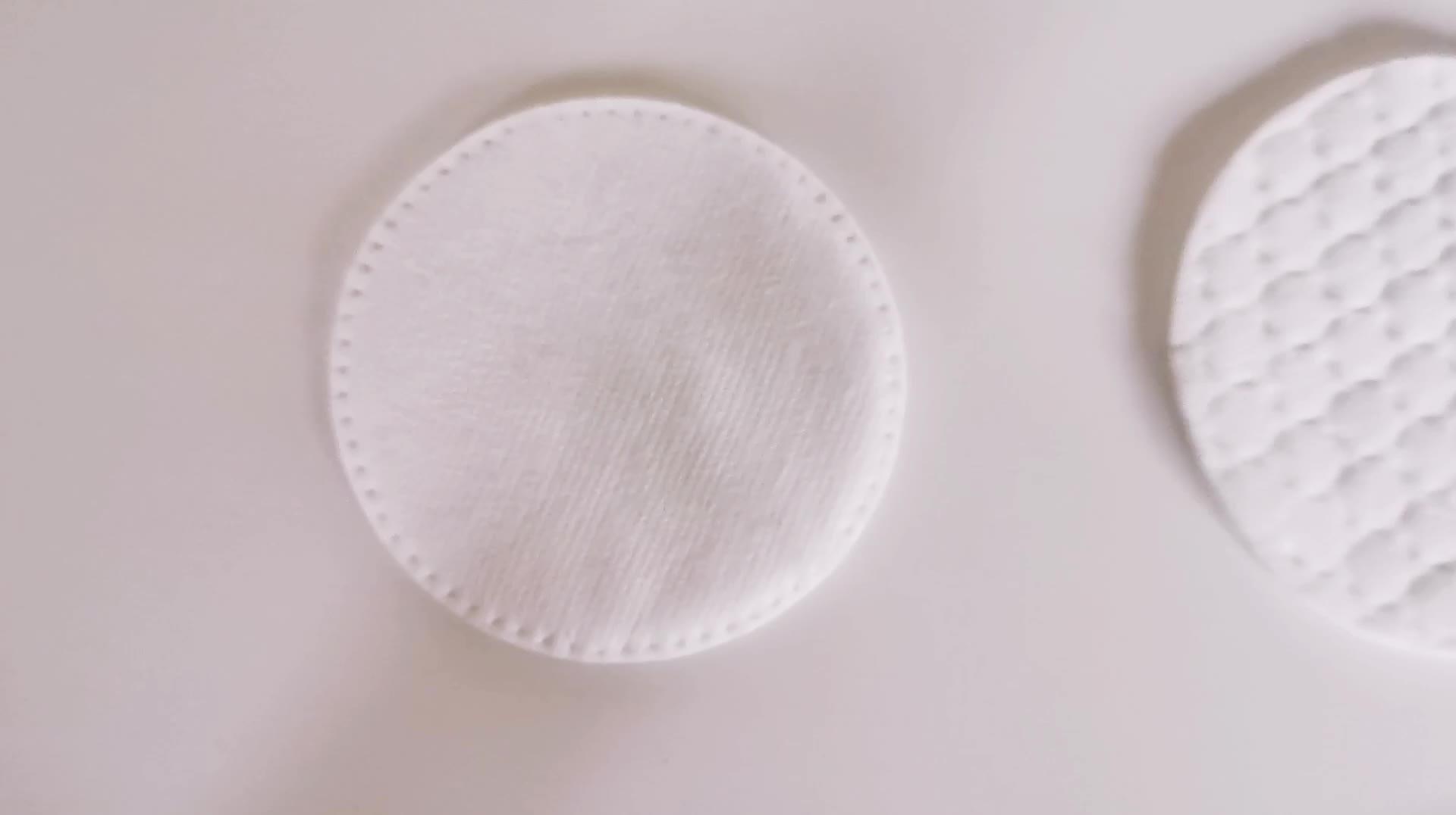 Promotionele schoonheid persoonlijke verzorging mode pure pluizende wattenschijfjes ingedrukt ronde cosmetische katoen pads fabrikant