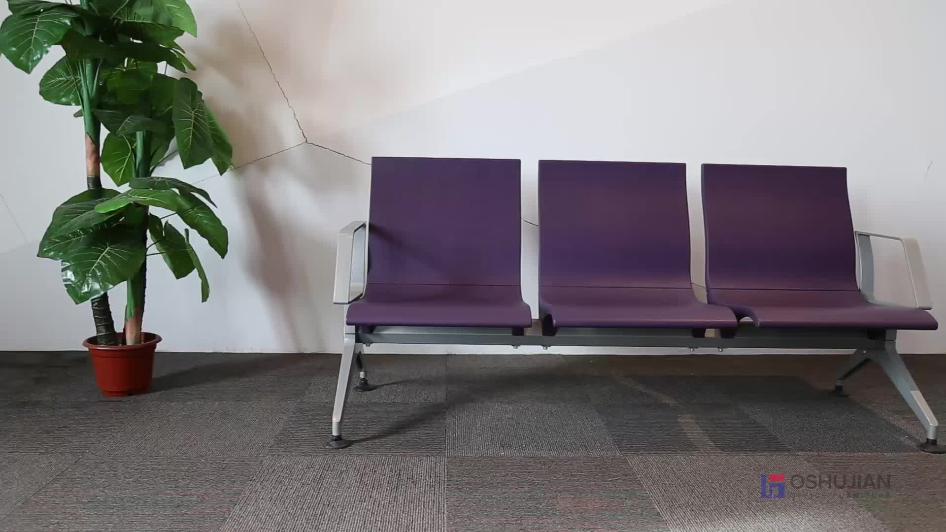 Hot sale PU airport seat 4-seater waiting chair