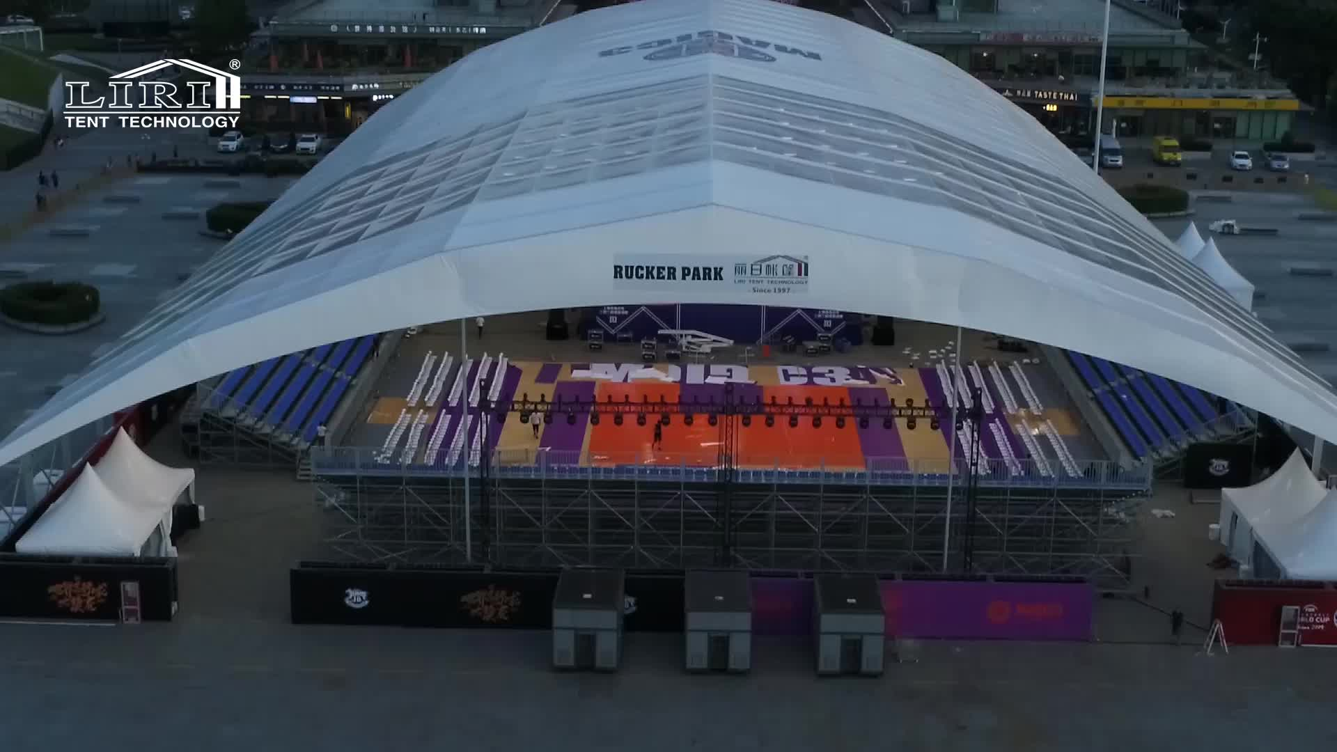Mobile Stadium Polygon Sports Tents for Basketball Court