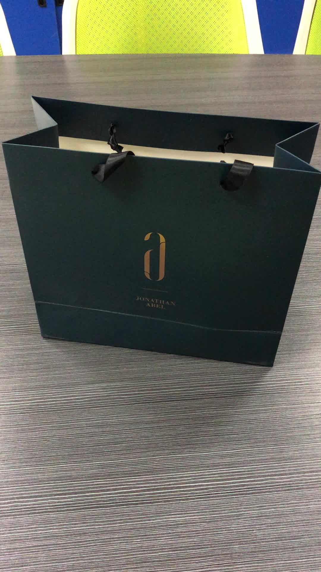 China High Quality Promotion Low Cost Production Hot Stamping Shopping Paper Bag With Custom Logo