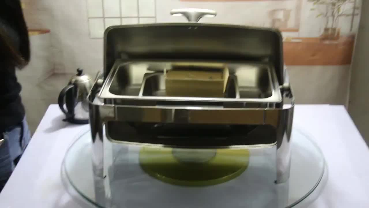 Guangzhou unique catering stainless steel chafer dish buffet  ,9 Litre luxury buffet food warmers chef in dish