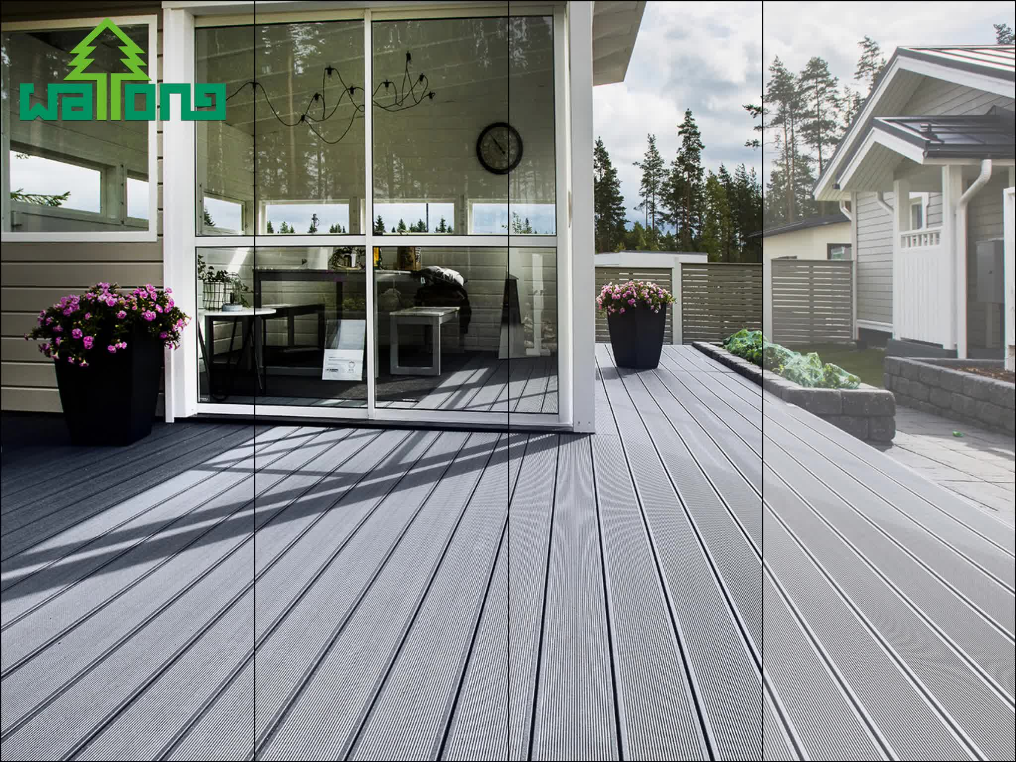 Gerecycled timber decking houtpellets wpc outdoor vloeren