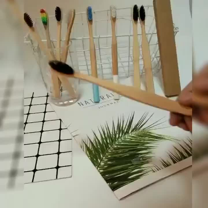 Free Sample BPA Free Eco-Friendly Soft Nylon Bristle Organic Natural Travel Bamboo Toothbrush With Customized Logo