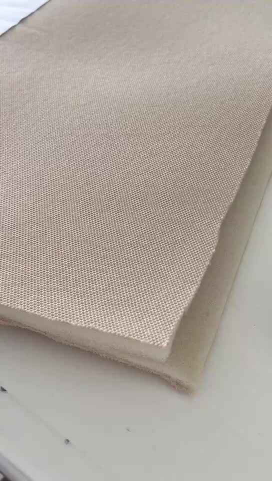 Mesh fabric laminated with 3mm white sponge car interior material made in china