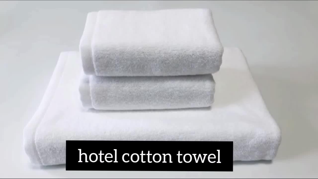 Taille personnalisée 100% coton hôtel serviette de bain visage serviettes avec logo privé