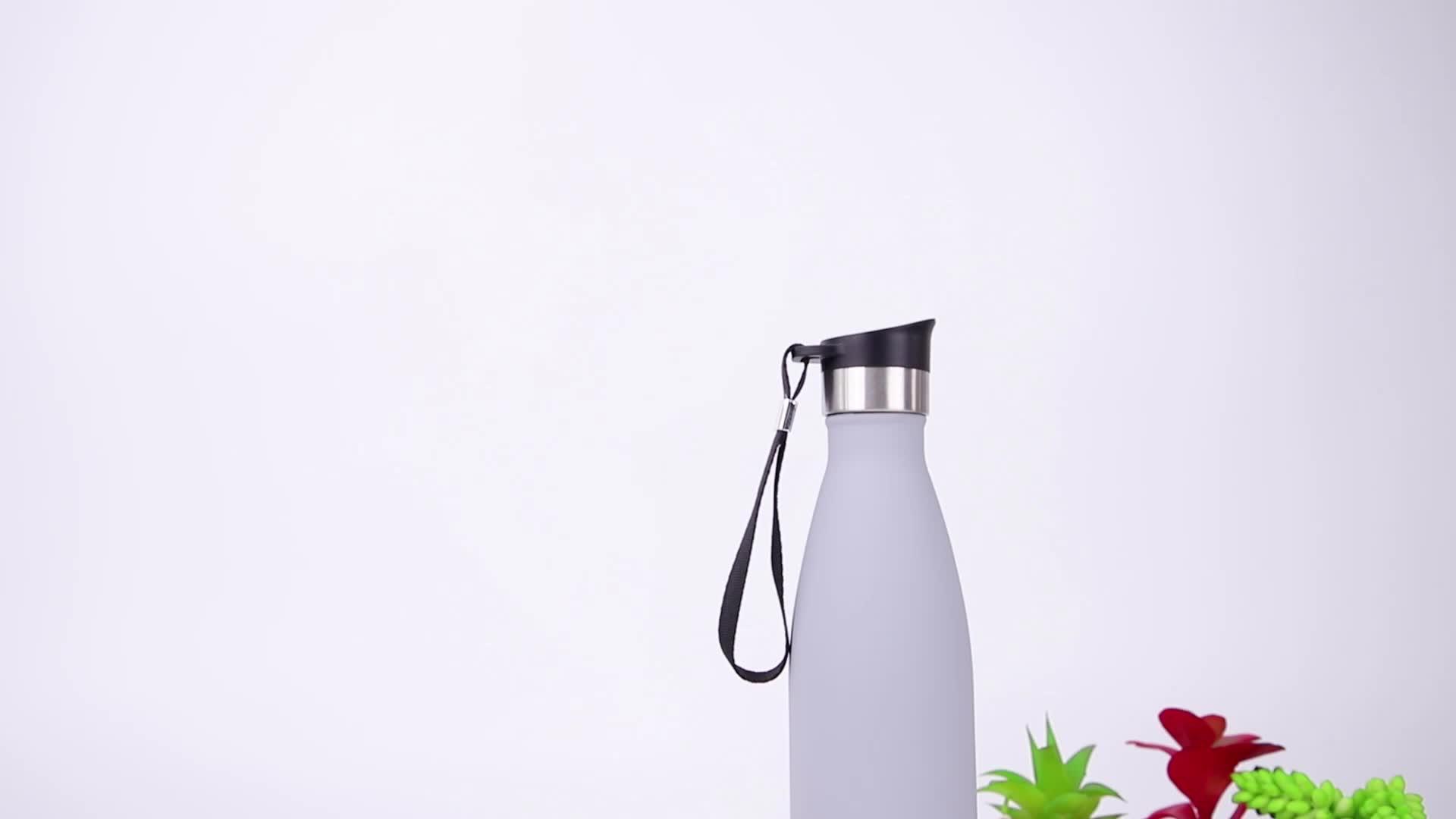 2019 dernière mode top design 500ml bouteille d'eau de sport en aluminium
