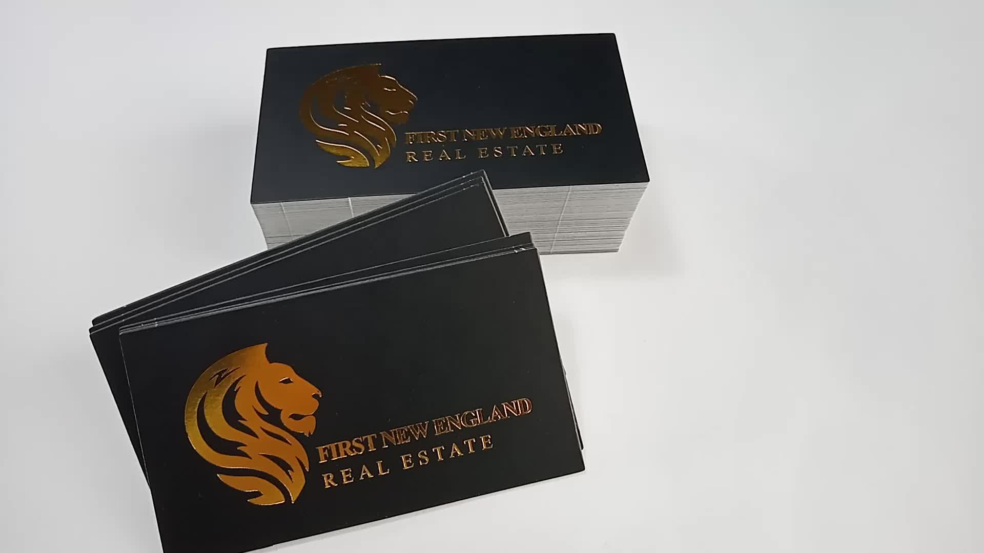 Baixo preço reciclar papel kraft saudação cartão de visita impressão lados dobro