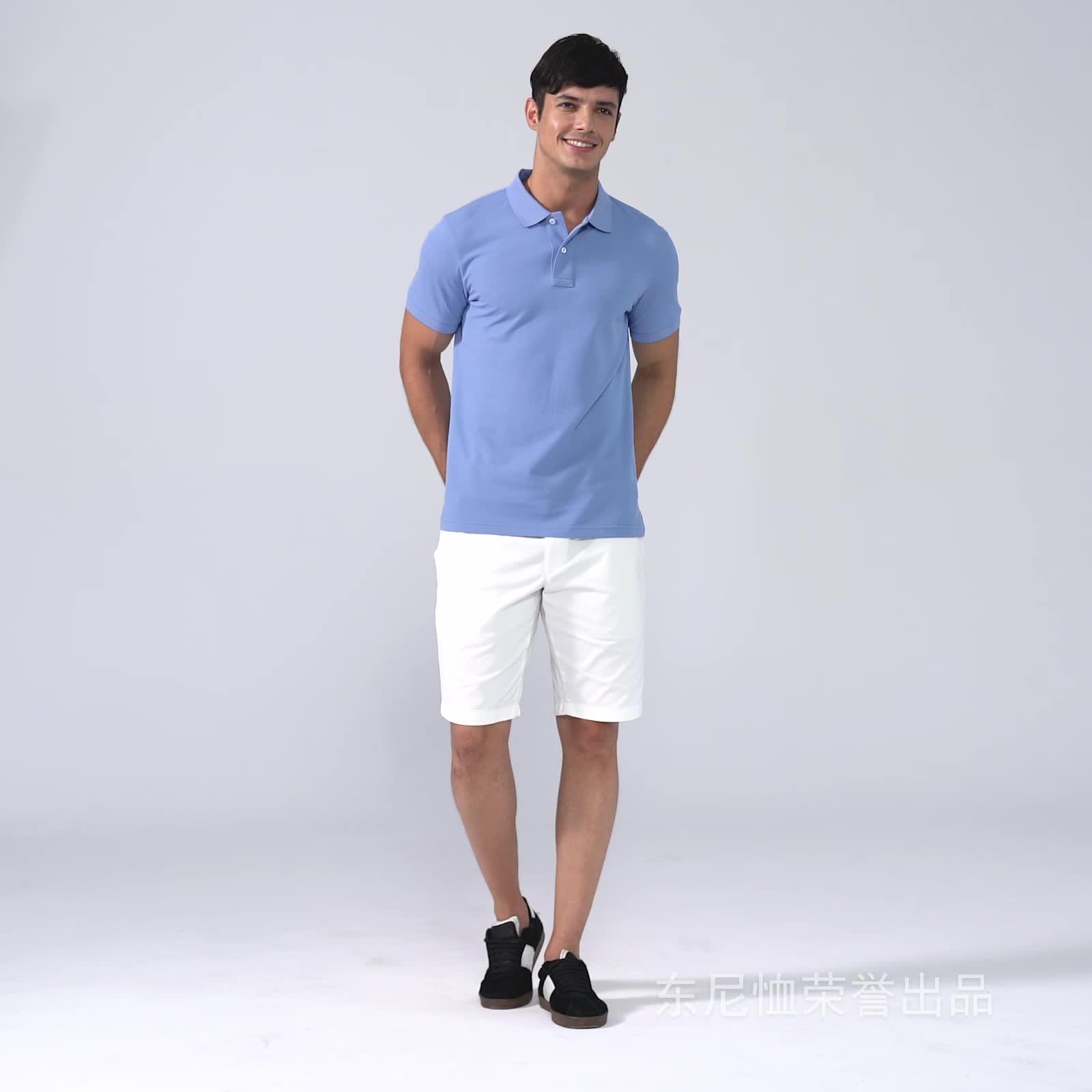 Großhandel Hohe qualität polo shirts, polo-shirt custom bestickte Sommer männer polo t shirts 100% mercerisierter baumwolle