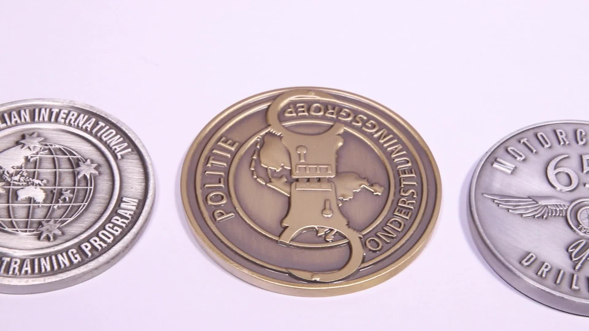Factory price copper stamping dies with collections and souvenirs logo metal custom coins