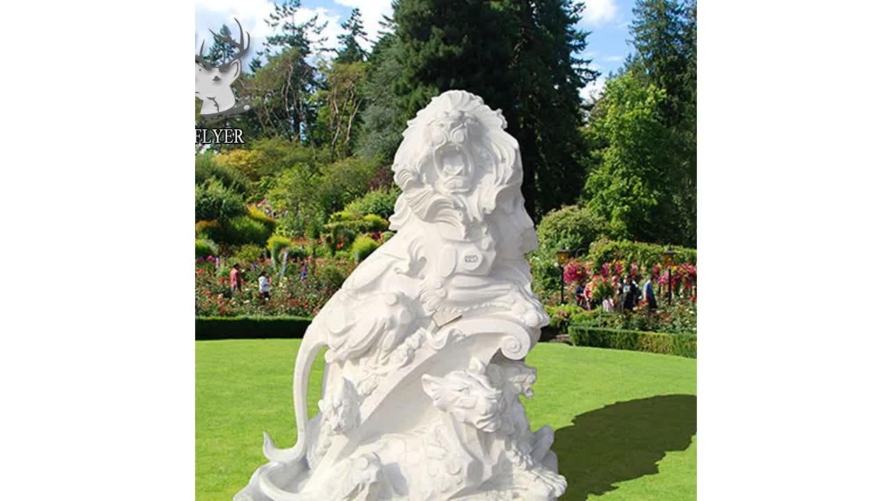 גן קישוטי טבעי אבן האריה קישוט פסלי למכירה