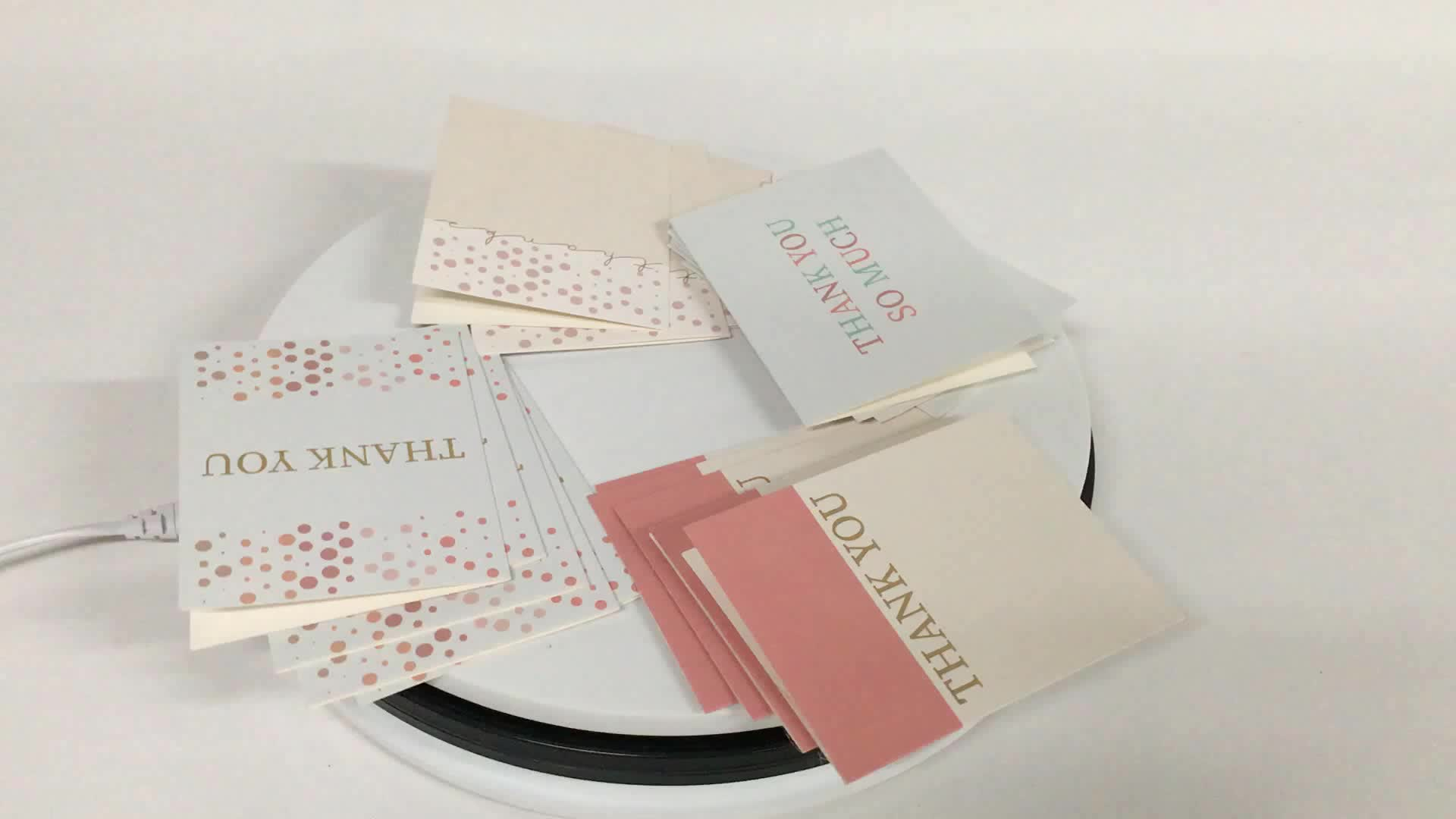 light pink gold foil small size paper thank you happy birthday