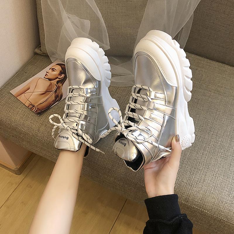 Ботинки женщина 2019 зимой корейский ботинки дикий толстая корка красные розы мартин сапоги волна ins чистый красная женщина обувной 606081800332