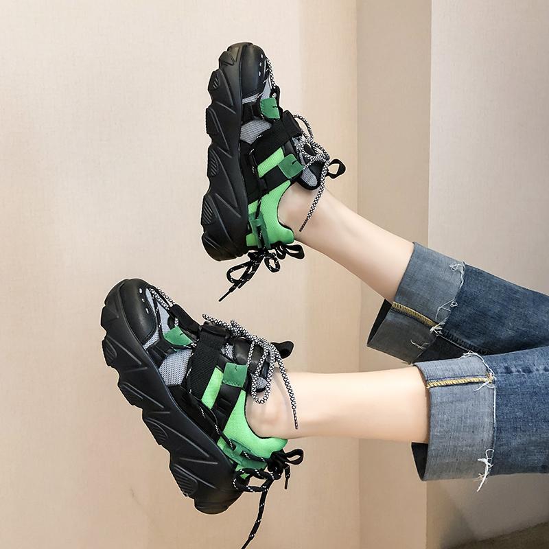 Обувь женская 2019 новый осень обувной дикий осень старый отец обувной женский конец чистый красный взрыв моделей движение обувь с подъёмом сын 605719025497