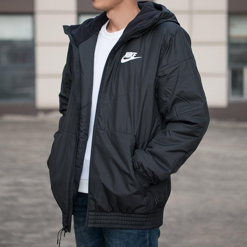 Áo khoác thể thao nam mùa đông 2018 mới cho nam áo khoác thể thao giản dị áo khoác lửng có mũ trùm đầu ấm áp cotton 928862-010 - Quần áo độn bông thể thao