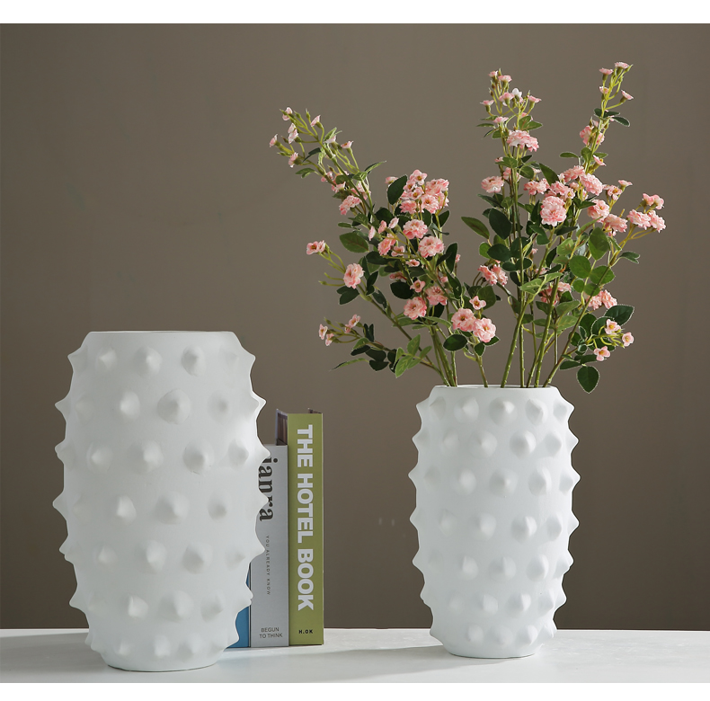 The Nordic idea ceramic vase furnishing articles put dry flower art I and contracted sitting room porch TV ark, home decoration